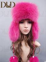Genuine fox fur fox winter fur hat