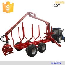 1-12T Alibaba China Tractor Log Trailers with Grapple