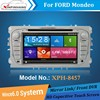 HD capacitive touch screen car dvd player for Mondeo with 3g/wifi internet, DVR, OBD, DSP audio, mirror link