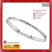 bracelet for men silve color five in one healthy bracelet ,fashionable engraving bead stainless steel jewelry