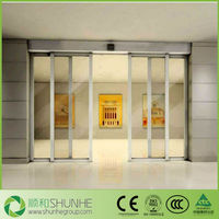 CE/ISO/CCC proved smart UPVC/PVC automatic sliding door panel with double glazing glass