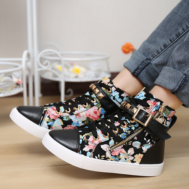 Korean Shoes High Tops Girls Girls Sneakers High Top