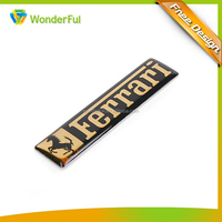 Car Body Sticker Design Metal Aluminum Plated With Epoxy Custom Prined Logo Car Decoration Sticker
