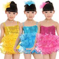Professional Ballet Tutu Girls Blue Ballet Costumes For Kids Sequin Dresses