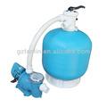 venta caliente de alta calidad de tratamiento de agua de fibra de vidrio de filtro con la bomba
