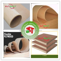 China Shandong Linyi Full hardwood and poplar flexible plywood sheet,bending board,bendy plywood for furniture