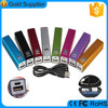 2015 FCC CE ROHS Approved 2600mah aluminum lipstick power bank with custom logo and package