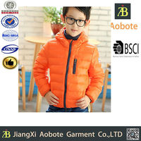 2015 New Designed Customized Outdoor Down Wear Winter Garment For Kids