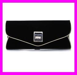 New arrival european fashion luxury women designer evening bag envelop clutch bag in black color HD1781