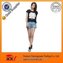 Cheap black t shirt woman t-shirt custom t shirt with wholesale price