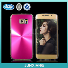 Metal CD Lines Hard Case with Transparent Sides for Samsung Galaxy S6