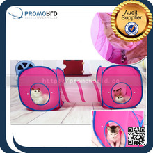 New Products Cat Pop Up Tent Cat Tunnel Toy Pet Animal Castle Tent