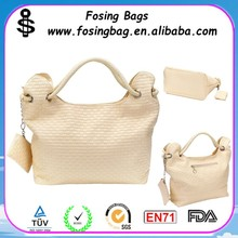 Factory wholesale Women Knitted PU Leather Designer Hobo Handbags Be kind to customize