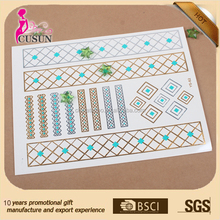 100% Safety skin temporary black and white lace henna sticker tattoo stencils