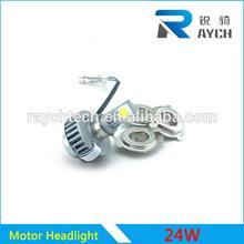 m3 nuevo producto de la motocicleta led cabeza de la lámpara led auto 3 24w lados de la cabeza de la luz