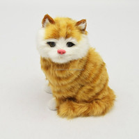 standing fur cat animal for gifts item fake fur animals