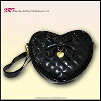 Apples Trend Fancy PU Leather Heart Shaped Handbags