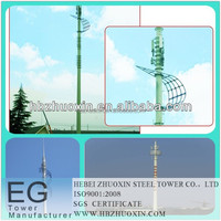 Steel galvanized telecommunication gsm tv satellite radio base station pole