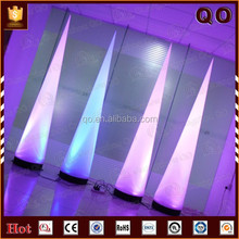 Good quality decorative led inflatable cone stage light for advertising