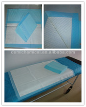 Disposable medical absorbent pad for surgery or hospital patients