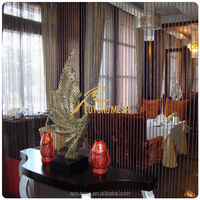 Metal beaded door screen curtain for divider/partition