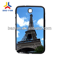 Blank sublimation PC phone case for samsung NOTE8.0 with metal sheet