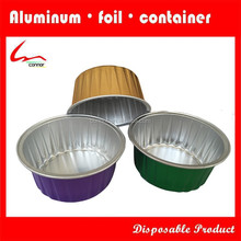 New Products High Quality Colorful Coated Disposable Round Aluminium Foil Container
