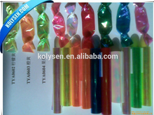 Kolysen PVC twist film for candy wrapping,metallized and custom printing