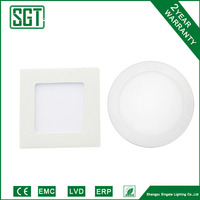 round & square 6w IC driver SMD2835 led panel lighting