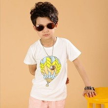 CB002 Wholesale Handsome Boy 100% Cotton O-Neck Simple Printed T-shirt Boy