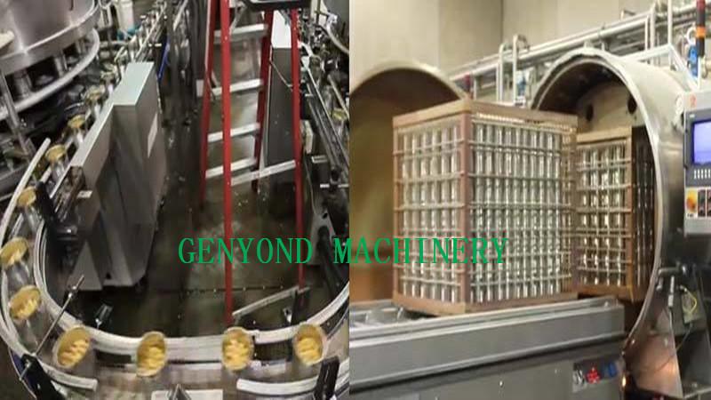 canned mushroom production line