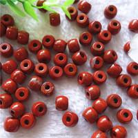 Yiwu cheap loose gemstone DIY 8X10mm flat faceted ruby jasper beads