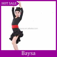 Wholesale dropship kids Latin Dance Dress Ballroom Dancing trainning dance dress children dress modelsBC488