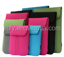 Hot sale 12.5 inch shockproof neoprene laptop sleeve case without zipper with flip cover and dot printing