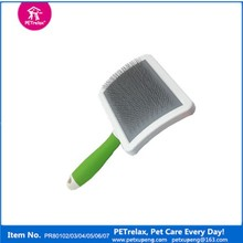 Rubber Handle Plastic Pet Shedding Brush & Comb for Dog Grooming