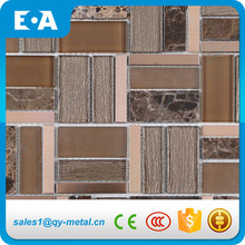 Glass Mix Marble Stone Metal Stainless Steel Cheap Mosaic Tiles