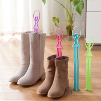 Decorative and Adjustable Dancer Shaped Plastic PP Boot Tree and Shaper and Rack
