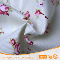 10oz 100% cotton print floral canvas fabric for table cloth and Curtain