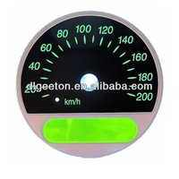 Top Quality Waterproof Polycarbonate Digital EL 3D Auto Meter Car Gauges