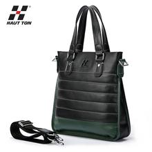 Newest design men fashion cow leather OEM handbag