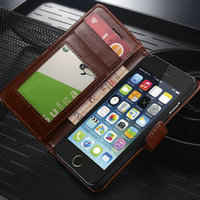 Premium Gift Cases Leather window case for iphone 6 Mobile Phone Accessories For IPhone 6 For iPhone6 Leather Wallet Case