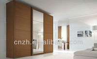 Wood Sliding Door Wardrobe Bedroom Sets