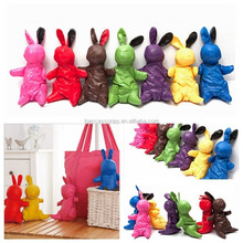 2015 hot sale Rabbit Bunny Shape Reusable Folding Shopping Bag cottonTote Bag