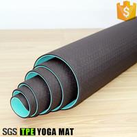 Cheap eco friendly folding yoga mat custom label