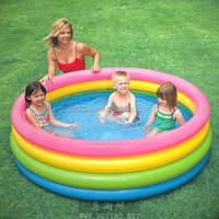 Hot sale free pvc palm tree baby inflatable pool paddling pool