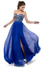 2015 Hot Sale Sexy A-Line Colorful Beaded Sweetheart Off The Shoulder Prom Party Evening Dress HA-062