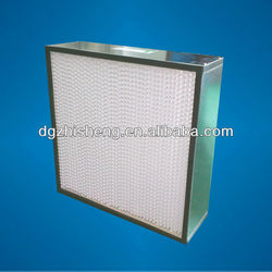 H14 Aluminum frame deep pleat air filter for third stage