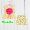 frete grátis em estoque flor e pontos padrão impresso roupas online loja atacadista de conjuntos de roupas infantis