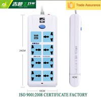 13a switch 2 USB extension socket ac power domestications outlet