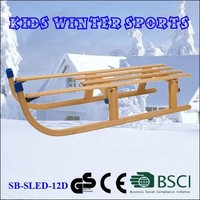 EU Standard Kids Folding Wooden Snow Sled